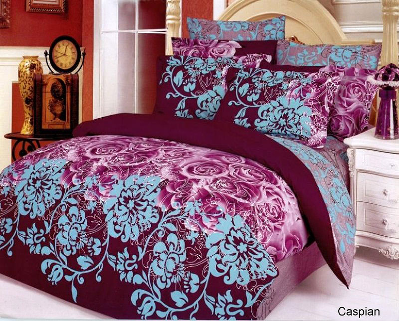 Caspian With Artistic Floral Patterns Sheet Sets By Levele