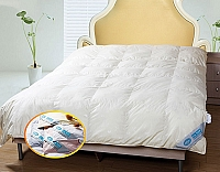 Goose Down Quilt - 1 Piece Full / Queen Bedding, The Ulltimate In Luxury, Baffle Box Design Super Light Weight Comforter