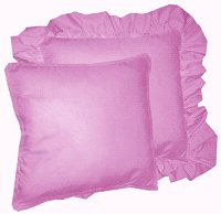 Solid Violet Purple Colored Accent Pillow with Removable Ruffled or Corded Edge (in 16x16 or 18x18)