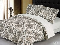 Flash - A Warm and Luxurious Bedspread Quilt with a Velvety Feel by Arya, 3pc Queen Size Bedspread