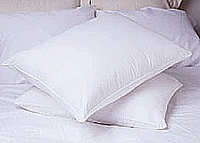 Napoli - 700 Thread Count, 100% Cotton Sateen, King Size  Hungarian White Goose Down Pillow w 650 Fill Power