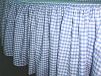 Blue Gingham Check Bedskirt - (in all sizes from twin to cal-king including crib and daybeds in many skirt drop lengths)