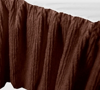 Brown Chenille Bedskirt - (in all sizes from twin to cal-king and many custom skirt drop lengths)