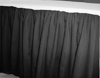 Solid Charcoal Gray Colored Bedskirt - (in all sizes from twin to cal-king also in crib size and daybeds with many custom skirt drop lengths)