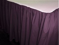 Solid Eggplant Colored Bedskirt - (in all sizes from twin to cal-king also in crib size and daybeds with many custom skirt drop lengths)