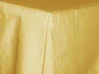 Gold Tailored Bedskirt - (for cribs and daybeds and twin, twin xl, full, queen, olympic queen, king and cal king sizes with several skirt drop lengths)