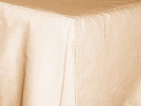 Nude Tailored Bedskirt - (for cribs and daybeds and twin, twin xl, full, queen, olympic queen, king and cal king sizes with several skirt drop lengths)