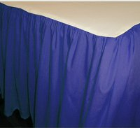 Solid Royal Blue Colored Bedskirt - (in all sizes from twin to cal-king also in crib size and daybeds with many custom skirt drop lengths)