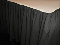 Solid Black Colored Bedskirt - (in all sizes from twin to cal-king also in crib size and daybeds with many custom skirt drop lengths)