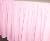Solid Pink Colored Bedskirt - (in all sizes from twin to cal-king also in crib size and daybeds with many custom skirt drop lengths)
