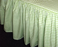 Sour Apple Green Gingham Check Bedskirt - (in all sizes from twin to cal-king including crib and daybeds in many skirt drop lengths)