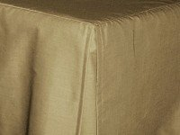 Taupe-Khaki Tailored Bedskirt - (for cribs and daybeds and twin, twin xl, full, queen, olympic queen, king and cal king sizes with several skirt drop lengths)