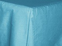 Turquoise Tailored Bedskirt - (for cribs and daybeds and twin, twin xl, full, queen, olympic queen, king and cal king sizes with several skirt drop lengths)