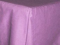 Violet Purple Tailored Bedskirt - (for cribs and daybeds and twin, twin xl, full, queen, olympic queen, king and cal king sizes with several skirt drop lengths)
