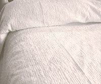 Solid White Ribbed Cotton Chenille Bedspread with Vintage Look (in all sizes with choice of 2 drop lengths)