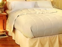 Pacific Coast�<br>Down Blanket<br><small>The luxury of down in a light weight blanket (Cream) (King)</small>