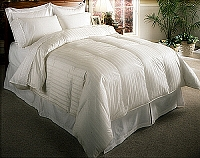 320 Stripe Down Comforter - White Goose Down Comforter (King)