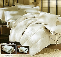 3pc Natural Down - King Size Down Comforter Set (includes 2 Standard Pillows)