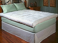 "5"" Featherbed - Full Size Featherbed 210 Thread Count, 100% Cotton Twill with Waterfowl Feather Fill"