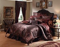 Basilia - 4pc California King Comforter Set (Plum)