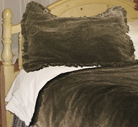 Brown Chenille Comforter Set (available in Twin to California King, includes 1 to 2 matching shams)