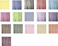 Single Panel French Door Curtain (available in all gingham colors and many lengths)