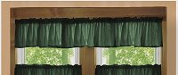 Solid Dark Forrest Green Colored Valance Curtain (available in many custom lengths)