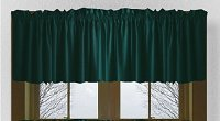 Solid Dark Teal Colored Valance Curtain (available in many custom lengths)