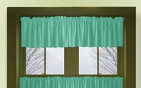 Solid Jade Green Colored Valance Curtain (available in many custom lengths)