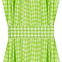 Http Www Pacificstarproducts Com Lime Green Gingham Kitchencaf Curtain Unlined Or With White Or Blackout Lining In Many Custom Lengths P 1443 Html