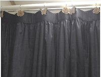 Solid Charcoal Gray Color Shower Curtain