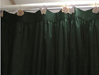 Solid Dark Forrest Green Color Shower Curtain