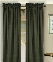 Solid Dark Forrest Green Colored Long Window Curtain - (available in many lengths and 3 rod pocket sizes)