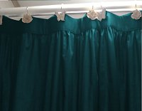 Solid Dark Teal Colored Shower Curtain