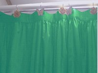 Solid Jade Green Color Shower Curtain