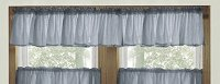 Solid Wedgewood Blue Color Valances (set of two 40