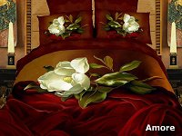 Amore by Dolce Mela - 6 PCs Duvet Cover Set, Bed in a Bag Full / Queen Size in Dolce Mela Gift Box DM403Q
