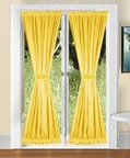French Door Curtains with Tie Backs