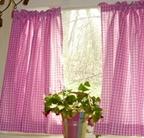 Gingham Kitchen Curtains, Also for Bedrooms and Bathrooms