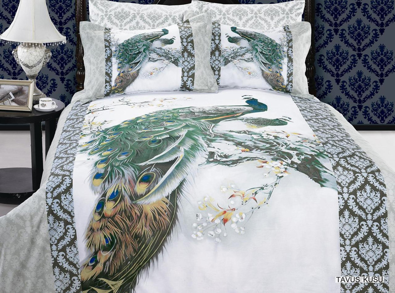 Peacock bedding peacocks and bedding on pinterest for Peacock bedroom ideas