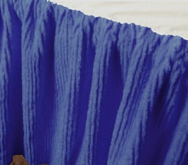 royal blue chenille bedskirt in