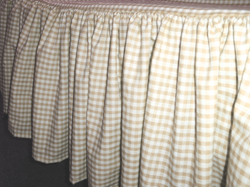Gingham Bed Skirts Twin