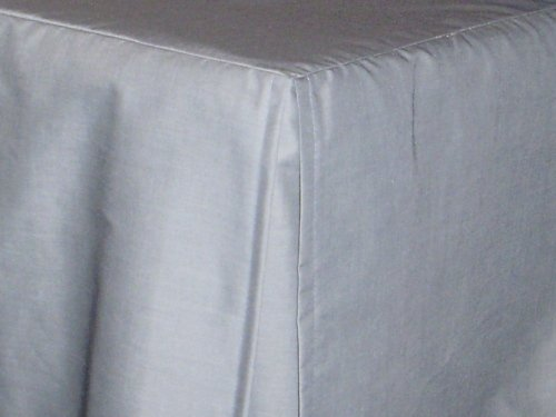 Light Grey Bed Skirt Full : Light silver gray tailored bedskirt for cribs and daybeds