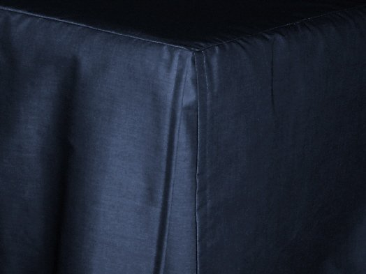 navy blue tailored bedskirt for cribs and daybeds and