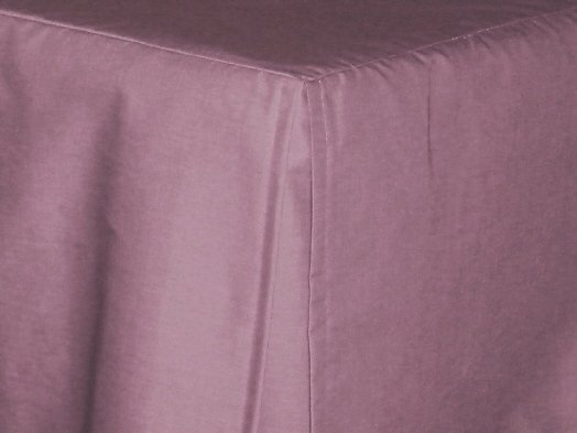 Powder Plum Tailored Bedskirt For Cribs And Daybeds And