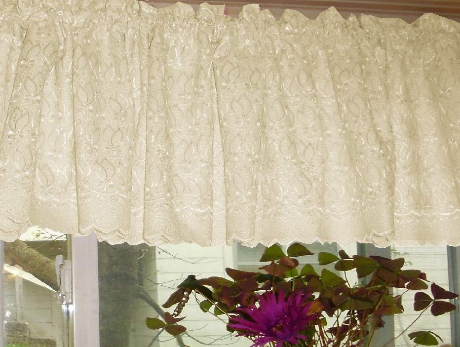 Home > Discontinued Items > Curtains > Ivory Lace Eyelet Window ...