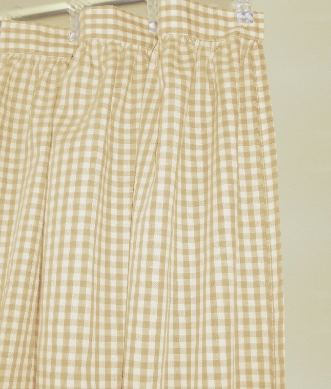 discontinued items curtains beige tan gingham check shower curtain