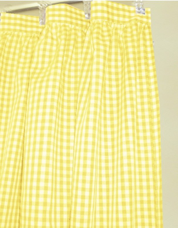yellow gingham check shower curtain. Black Bedroom Furniture Sets. Home Design Ideas