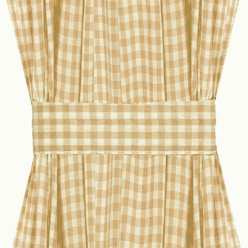 ... -Tan Gingham French Door Curtain Panels (available in many lengths