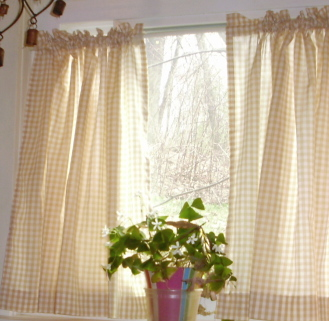 beige gingham kitchen caf 233 curtain unlined or with